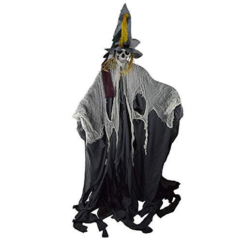 MTSBW Halloween Dekoration Requisiten Spukhaus Geheimer Raum Hängende Geist Schwarz Horror Entity High Hat