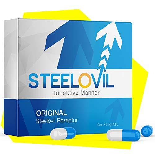 Original STEELOVIL - Für aktive MÄNNER - 12 Hochdosierte Kapseln 200mg I Neutrale Verpackung I Jetzt mit der revolutionären Hard-Shaft-Formel