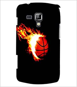 PrintDhaba Ball on Fire D-1227 Back Case Cover for SAMSUNG GALAXY S DUOS 2 S7582 (Multi-Coloured)