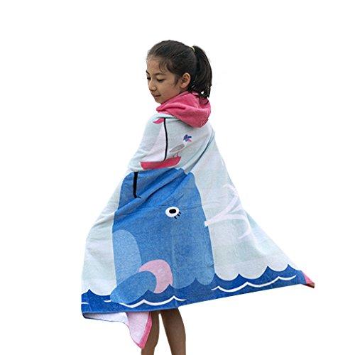 Kinder Kapuzen Strandtücher Bademantel Badetücher - Mädchen Jungen 100% Baumwolle Sporthandtücher Baby Bade Handtücher Badeponcho Kapuzentuch