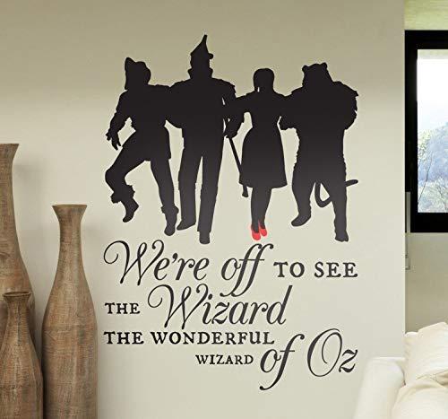r Wandtattoo Schlafzimmer Zauberer Wir sind unterwegs, um den Zauberer zu sehen, den wundervollen Zauberer von Oz für das Schlafzimmer im Wohnzimmer ()