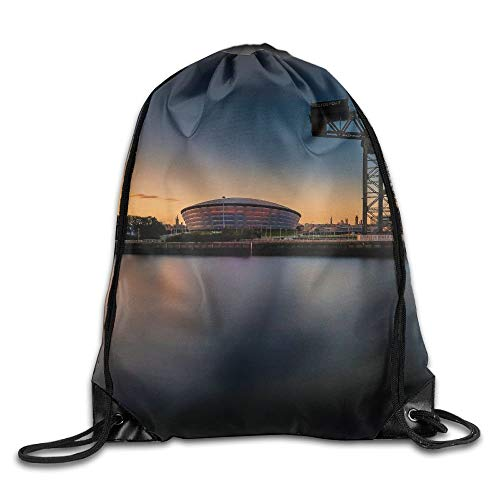 HLKPE Beautiful City by The River Drawstring Bag for Traveling Or Shopping Casual Daypacks School Bags