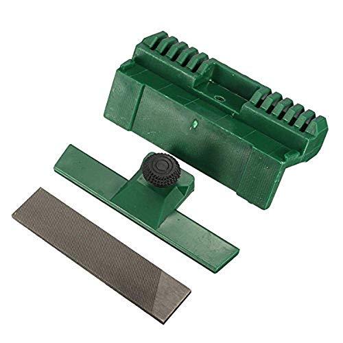 3 Stück Kommode (3 Stück Kettensäge Kettenführung Schiene Kommode Feile mit 2 Feilen Rasenmäher Kettensäge Werkzeug)