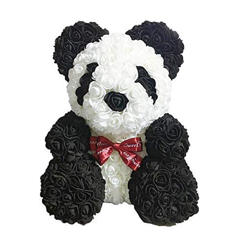 Navigatee Rose Panda - künstliche Rose Teddy Bear Cub, für immer Rose ewig Blume für Schaufenster, Jubiläum Weihnachten Valentines Geschenk (Rose Valentines Künstliche)