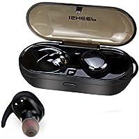 Isheep, mini auricolare Bluetooth, invisibile, vero wireless Bluetooth 4.1in cuffie auricolari, con vivavoce e microfono a cancellazione di rumore, per iPhone, Android, iPad. Colore: nero