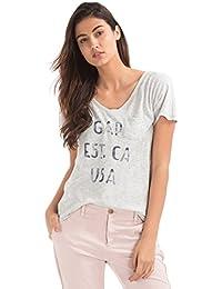 GAP Women Round Neck Logo Tee