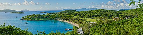 Bay Islands Resort (The Poster Corp Panoramic Images - Rosewood Resort on an Island Caneel Bay St. John US Virgin Islands Photo Print (121,92 x 30,48 cm))
