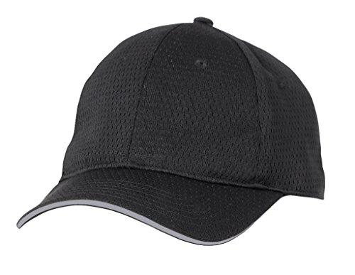 Farbe von Chef Works bcct-gry-0Coole Vent Baseball Cap, Grau Trim, eine Größe, schwarz -