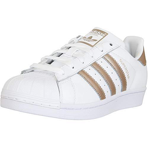 Adidas Womens Trainer (adidas Superstar Women Sneaker Trainer (40 EU, weiß/Gold))