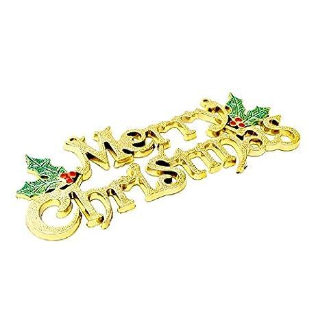 YUYU Vergoldung Christbaumschmuck Weihnachten Briefe Dekorationen l Geschenke (4) (Dicke Christmas Garland)