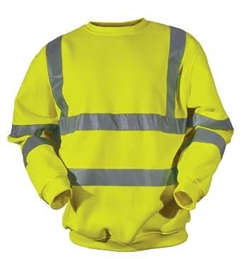 Blackrock Men's Hi-Vis Sweatshirt Yellow EN471 Class 3