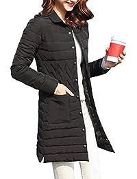 Huatime Invierno Ropa Abrigo Chaqueta Mujer - Señoras Parka Parker Largo Abrigos Prendas de Abrigo Cálido
