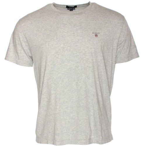 GANT Herren T-Shirt SOLID Hellgrau (Light Grey Marl)