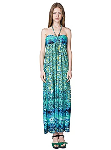 Years Calm Womens Bohemian Beach Holiday Dresses Sexy Bandeau Sheering Strapless dress