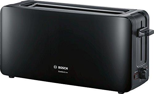 Bosch TAT6A003 Langschlitz-Toaster ComfortLine, automatische Brotzentrierung, Auftaufunktion, 1090 W, schwarz