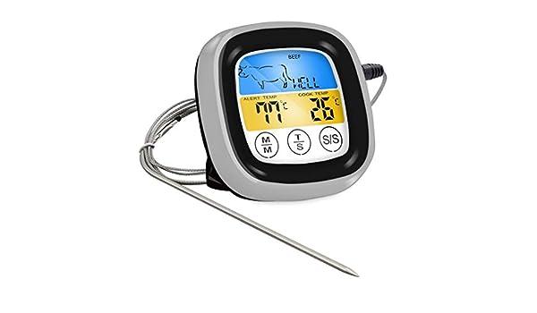 Cucinare cibo Termometro per barbecue senza fili Bluetooth con sei sonde e timer per il controllo di app gratuito per la carne JBP-X
