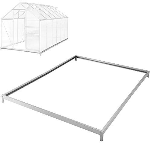 TecTake Fundament für Gewächshaus aus verzinkten Stahl 375x190x12 cm