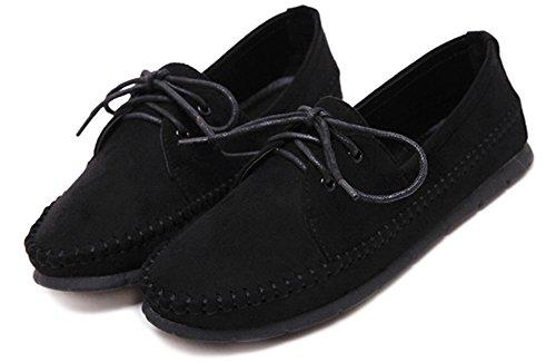 Fangsto  Boat Shoes,  Mädchen Damen Ballett Schwarz