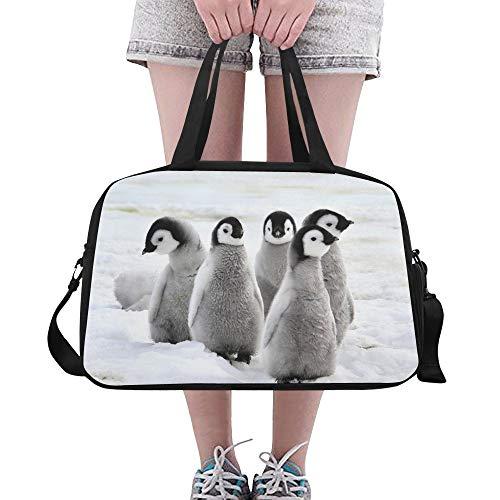 Adorable Kaiserpinguin Familie Große Yoga Gym Totes Fitness Handtaschen Reise Seesäcke Schultergurt Schuhbeutel Für Übung Sport Gepäck Für Mädchen Männer Frauen Im Freien