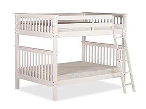 Happy Beds Malvern White Wooden Quadruple Sleeper Bunk Bed Furniture Bedroom