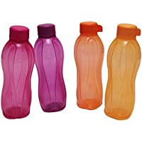 Tupperware Aquasafe botella de agua deportiva (2, cierre de rosca, 500ml, forma redonda)