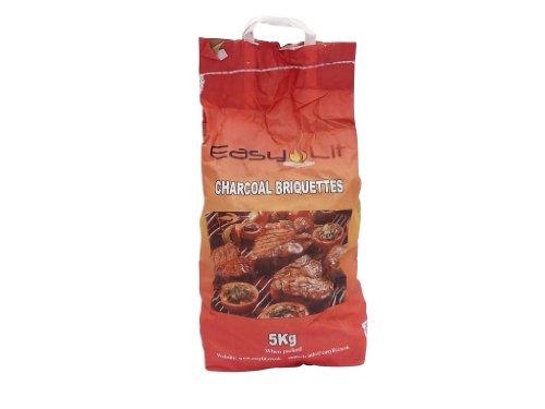 EasyLit 5kg Charcoal Briquettes x 2 Bags