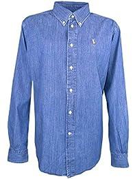 faab934f0be Ralph Lauren Chemise Large Bleu en Jean pour Femme