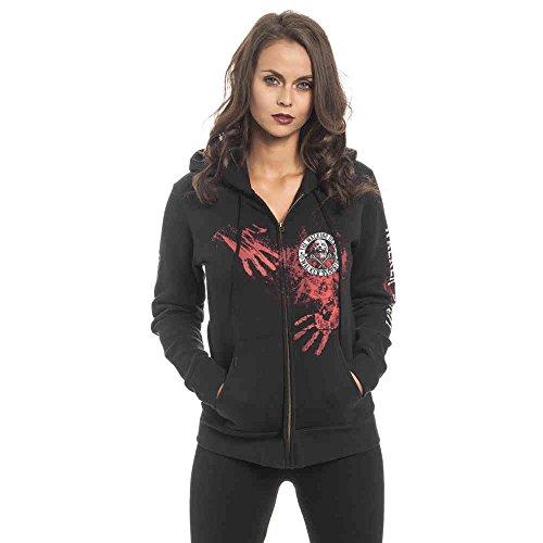 The Walking Dead Walker Security Chaqueta con capucha Mujer Negro S