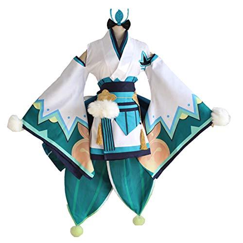 YKJ Vollen Satz Weibliches Kleid Halloween Kostüme Japanische Rollenspiel Leistung Kimono Onmyoji Cosplay Kostüm,Clothing Full Set-M (Halloween-kostüme 2019 Weiblichen)