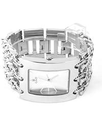 YESURPRISE 044472–Armbanduhr Damen, Armband aus Edelstahl Farbe Silber