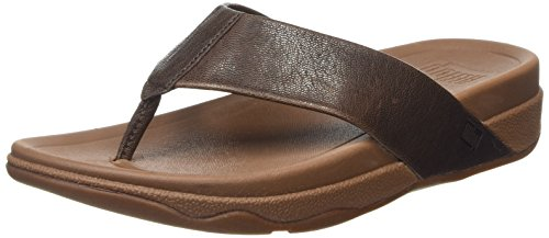 FitFlop Surfer Leather, Herren Durchgängies Plateau Sandalen, Braun - Brown (Chocolate Brown) - Größe: 45 (Chocolate Brown-sandalen)