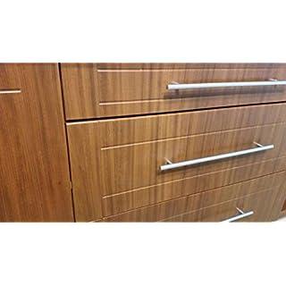 Brushed Steel T Bar Kitchen Door Handles by Stolmet Manufacturing (hole96mm/L=156)