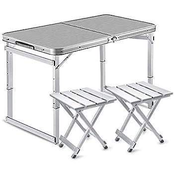 Tavoli Da Giardino In Alluminio Pieghevoli.Folding Table And Chair Tavolo E Sedia Pieghevoli Da Esterno Da 1