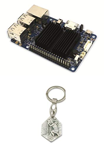 Zisa-Kombi ODROID-C1+ Einplatinen-Computer, 1,5 GHz QuadCore, 4X USB, 1 GB (985988810410) mit Anhänger Hlg. Christophorus