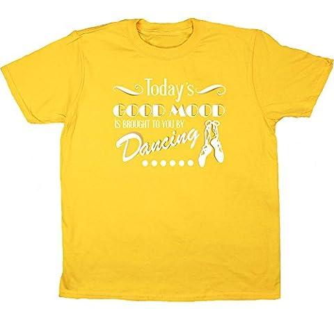 HippoWarehouse - T-shirt - Fille - jaune - 4 ans
