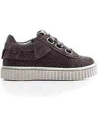 c3d908baf1bff Nero Giardini Sneaker Primi Passi Bambina A820600F Grey Scarpe in camoscio  Autunno Inverno 2019