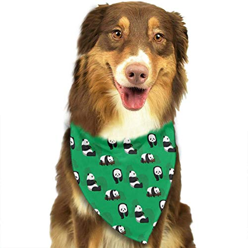 nxnx Panda Bear Green Triangle Bandana Scarves Accessories for Pet Cats and Dogs - Gifts