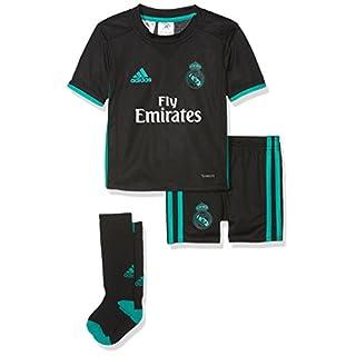 adidas B31096 Kit de vêtements Mixte Enfant, Top Bottom : Noir/Aero Reef, FR : S (Taille Fabricant : 98)