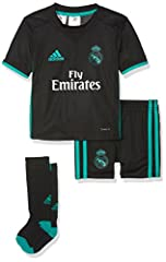 Idea Regalo - adidas Real Madrid a Mini, Divisa da Calcio Unisex Bambini, (Nero/Azzurro), 116
