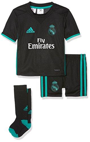adidas Kinder Real Madrid Mini Auswärtsausrüstung Auswärt Kit, Black/Aerree, 104 -