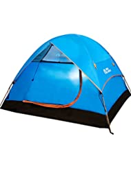 Al aire libre equipo Mobi al aire libre primavera y verano senderismo Camping resistente al viento 3–4POLE Camping tienda de campaña de aluminio litera Set Up