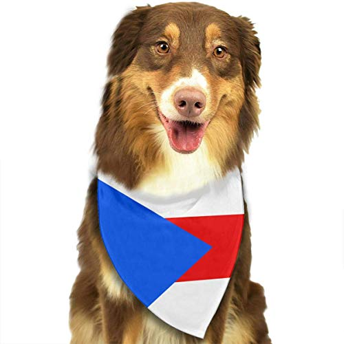 Dogs Bandana Collars Puerto Rico Flag Pets Triangle Neckerchief Puppy Bibs Scarfs Cats Scarfs Towel -