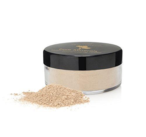 Soie Huile de Marocain Teint Poudre Libre Base - Argan infusé Fond De Teint Minéral / Minéraux Maquillage / Poudre Minérale / Poudre Fond De Teint, Talc Gratuit, Bismuth Oxychlorure de gratuit, Sans Paraben et Synthétique Sans Parfum - Peut être utilisé as minéraux Cache-cernes, Lâche Poudre Incolore, Meilleur base pour peau sensible et base pour l'acné et base pour Rosacée avec huile d'argan pour la peau - Ivoire, 3g