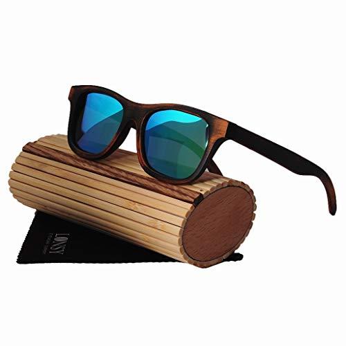 Sonnenbrille handgefertigt, UV400 Bambus Sonnenbrille, polarisierende Brille geeignet für alle Arten von Gesicht, als Geschenk für Freunde und Verwandte für Mann und Frau, wenn Reisen, Outdoor-Sport u