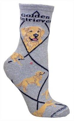 Wheel House Designs Golden Retriever Hund Grau Große Baumwollsocken