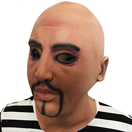 Schwarzes Kostüm Brille Quadrat - Lustige Masken für Gesicht Dasongff Halloween Maske Kostüm Party Menschenkopf Menschliche Lustige Vielfalt Phantasie Ball Maske