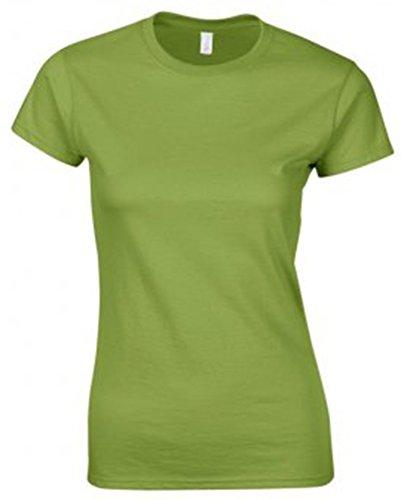 GILDAN -T-shirt  Donna Multicolore - Kiwi