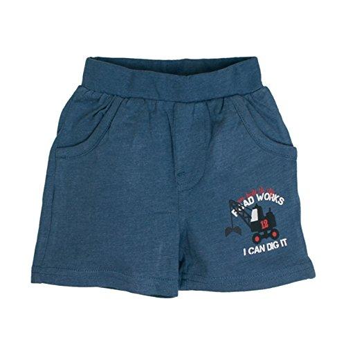 SALT AND PEPPER Baby-Jungen Shorts B Bermuda Just Cool, Blau (Storm Blue Melange 479), 68