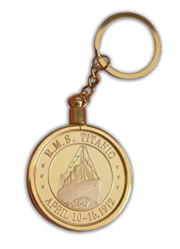 Titanic RMS Schlüsselanhänger Gold Farbe Medaillon & schöne seltene Sammlerstücke & Gedenk Noble Token Amulett Schlüsselanhänger vorhanden -