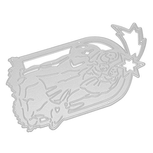 Gaddrt Frohe Weihnachten Kinder intellektuelle Entwicklung Durable Metal Cutting Dies Schablonen Scrapbooking Prägung Album DIY Papier Karte Kunst Handwerk (E) (Bau Kostüm Diy)